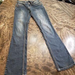 💜 ANGELS Jeans Straight Leg w Flap Pockets Sz 3